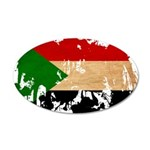 Sudan Flag 38.5 x 24.5 Oval Wall Peel