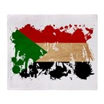 Sudan Flag Throw Blanket