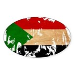 Sudan Flag Sticker (Oval 10 pk)