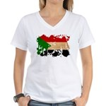 Sudan Flag Women's V-Neck T-Shirt