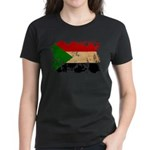 Sudan Flag Women's Dark T-Shirt