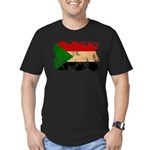Sudan Flag Men's Fitted T-Shirt (dark)