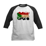 Sudan Flag Kids Baseball Jersey