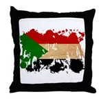 Sudan Flag Throw Pillow