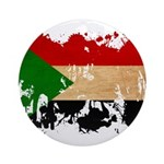 Sudan Flag Ornament (Round)