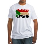 Sudan Flag Fitted T-Shirt