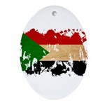 Sudan Flag Ornament (Oval)
