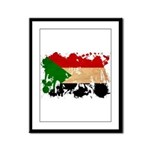 Sudan Flag Framed Panel Print