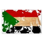Sudan Flag Sticker (Rectangle)