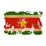 Suriname Flag 38.5 x 24.5 Wall Peel