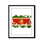 Suriname Flag Framed Panel Print