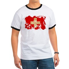 Switzerland Flag Ringer T