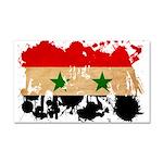 Syria Flag Car Magnet 20 x 12