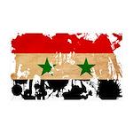 Syria Flag 38.5 x 24.5 Wall Peel