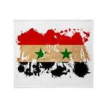 Syria Flag Throw Blanket