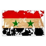 Syria Flag Sticker (Rectangle 50 pk)