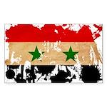 Syria Flag Sticker (Rectangle 10 pk)