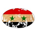 Syria Flag Sticker (Oval 10 pk)
