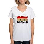 Syria Flag Women's V-Neck T-Shirt