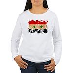 Syria Flag Women's Long Sleeve T-Shirt