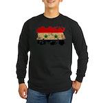 Syria Flag Long Sleeve Dark T-Shirt