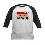 Syria Flag Kids Baseball Jersey