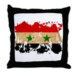 Syria Flag Throw Pillow