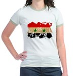 Syria Flag Jr. Ringer T-Shirt