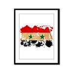 Syria Flag Framed Panel Print