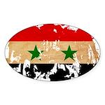 Syria Flag Sticker (Oval)