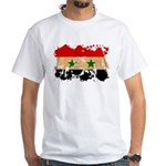 Syria Flag White T-Shirt