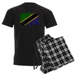 Tanzania Flag Men's Dark Pajamas