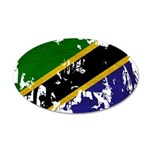 Tanzania Flag 38.5 x 24.5 Oval Wall Peel