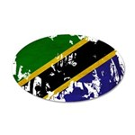 Tanzania Flag 22x14 Oval Wall Peel