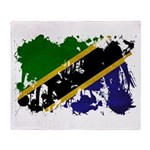 Tanzania Flag Throw Blanket