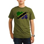 Tanzania Flag Organic Men's T-Shirt (dark)