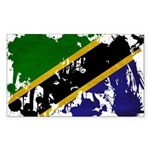 Tanzania Flag Sticker (Rectangle 10 pk)