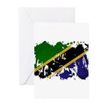 Tanzania Flag Greeting Cards (Pk of 20)