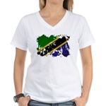 Tanzania Flag Women's V-Neck T-Shirt