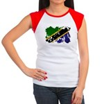 Tanzania Flag Women's Cap Sleeve T-Shirt