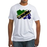Tanzania Flag Fitted T-Shirt