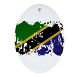 Tanzania Flag Ornament (Oval)