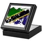 Tanzania Flag Keepsake Box