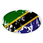 Tanzania Flag Sticker (Oval)