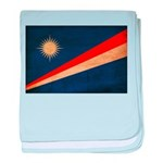 Marshall Islands Flag baby blanket
