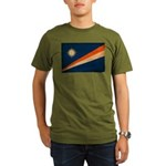 Marshall Islands Flag Organic Men's T-Shirt (dark)