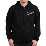 Marshall Islands Flag Zip Hoodie (dark)