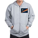 Marshall Islands Flag Zip Hoodie