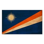 Marshall Islands Flag Sticker (Rectangle 50 pk)