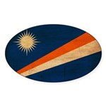Marshall Islands Flag Sticker (Oval 50 pk)